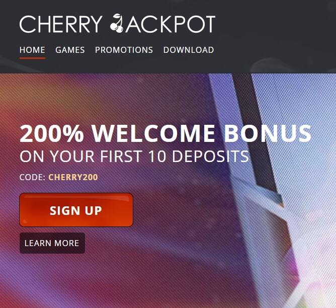 Cherry Jackpot Casino Review Bitcoin Casino On The Us Market
