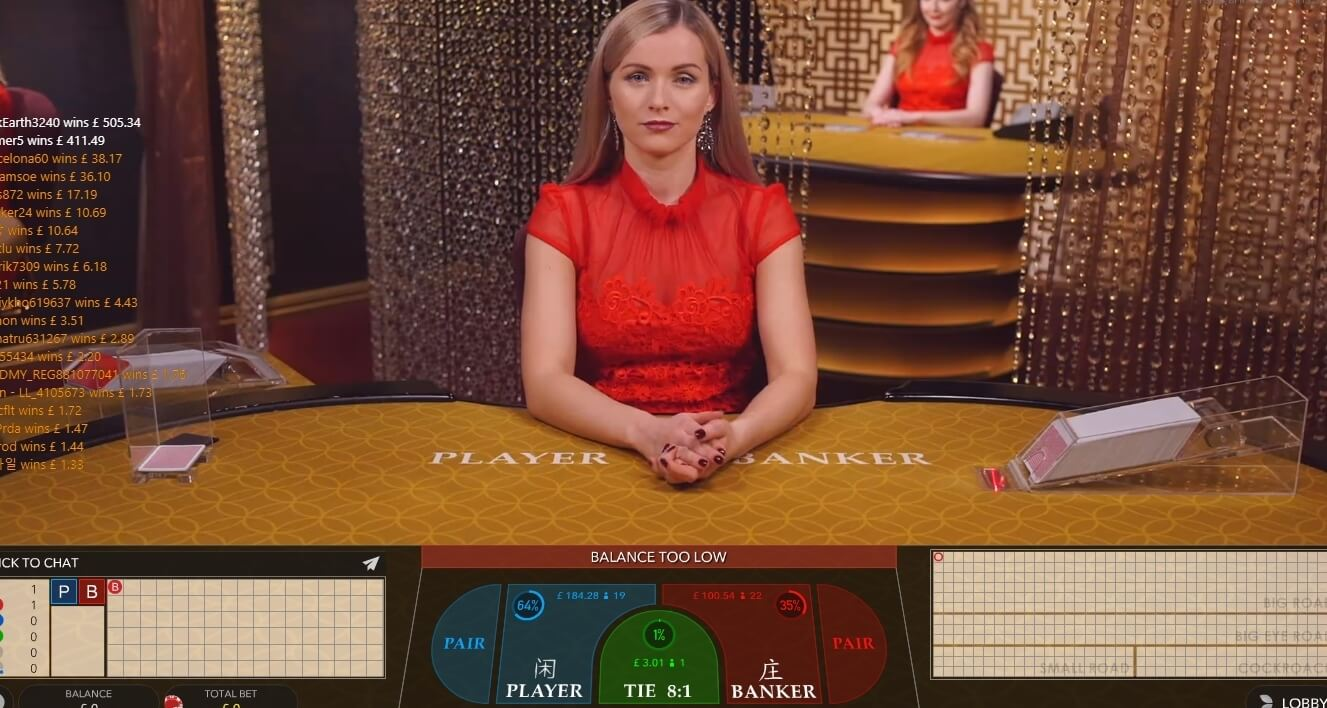 Online casino game live dealer