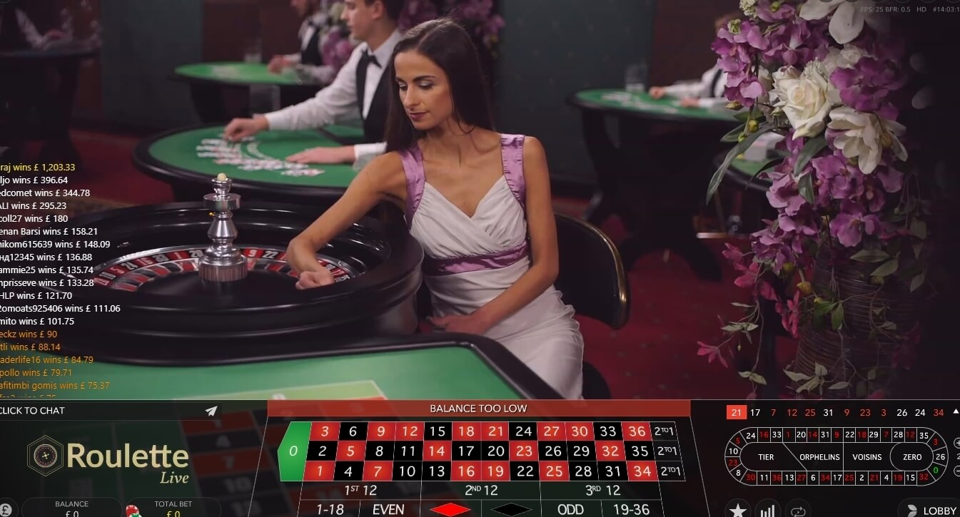 Online casino games - live roulette