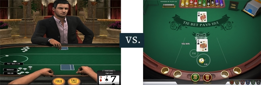Play and Go's Beat Me vs Poker 3 cards - online casino games
