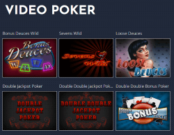 Available Roaring 21 poker games